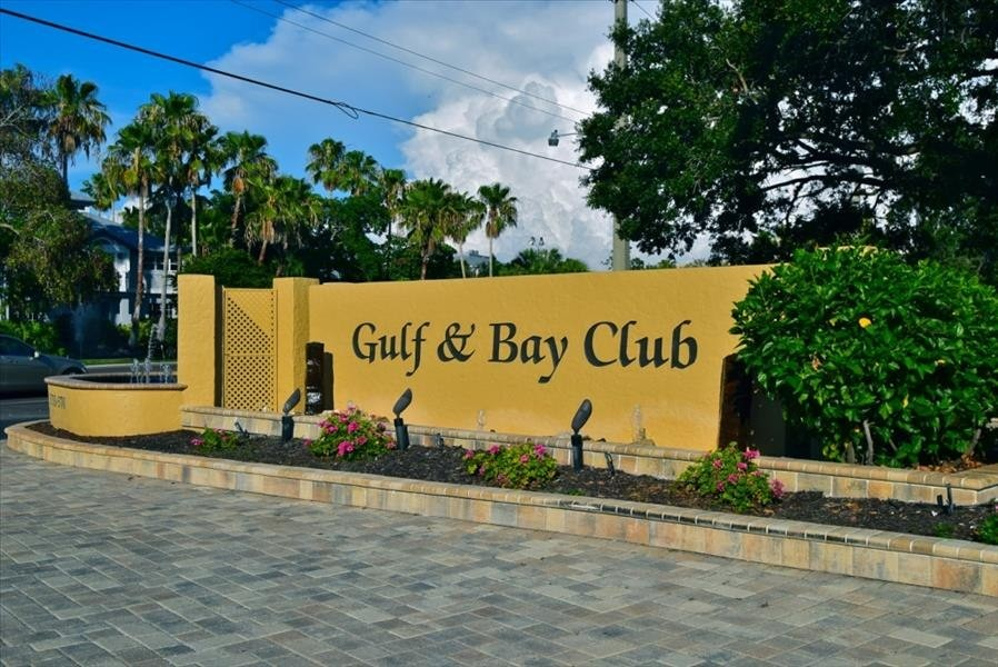 Gulf & Bay Club Sign