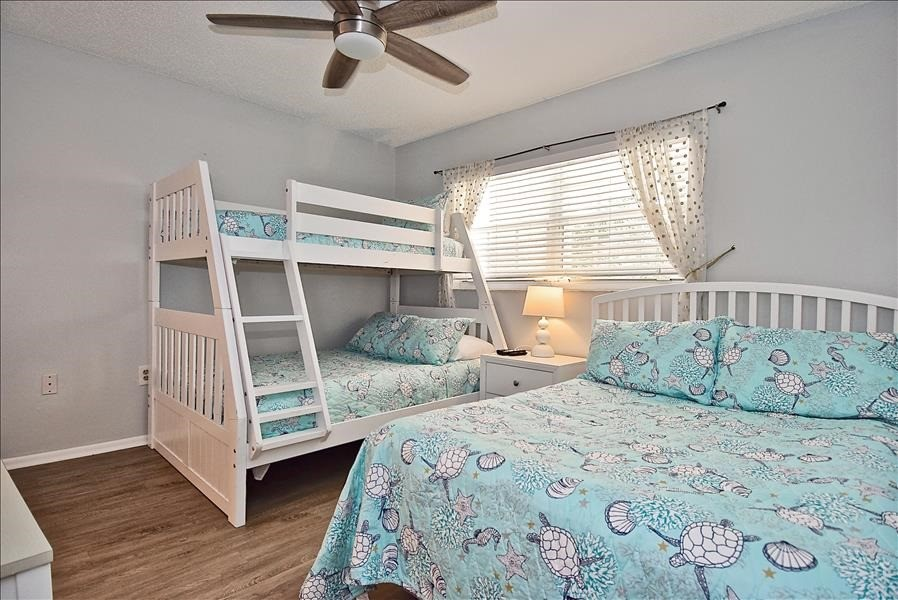 guest bedroom with new beds - 2 fulls, 1 twin