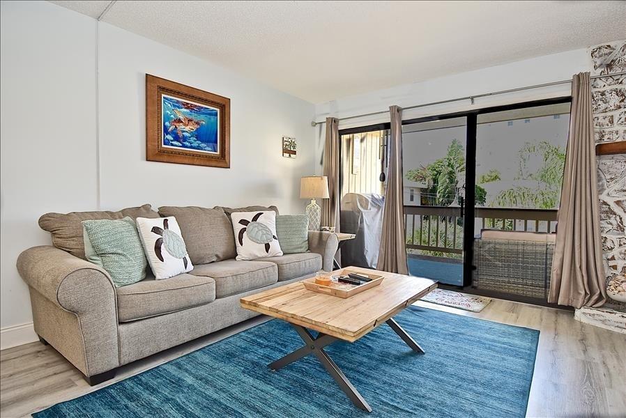 living room with comfortable sleeper sofa