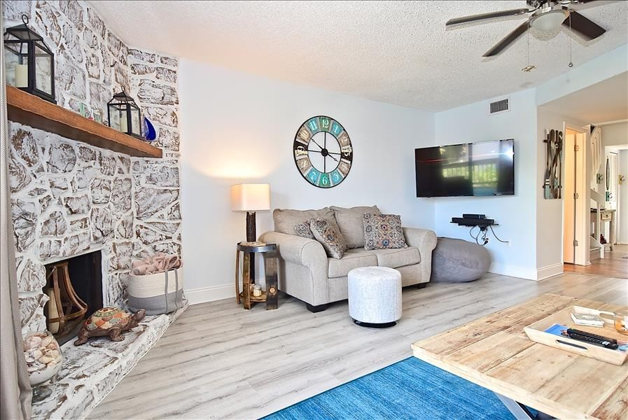 additional love seat in living room