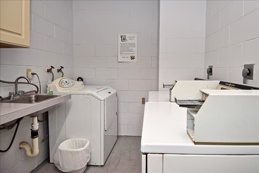 on-site laundry each floor