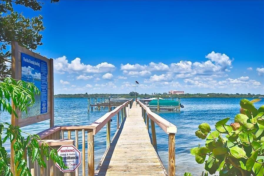 docks for Tortuga across the road