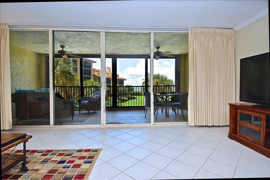 front room, lanai, view
