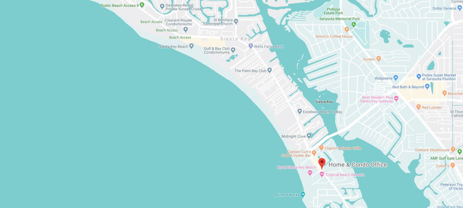 google map of Find Siesta Rentals